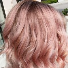Love this dusty rose gold