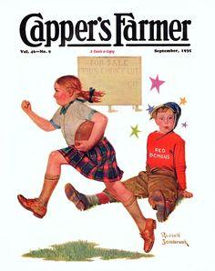 Capper's Farmer - September, 1935.  Illustration by  Russell Sambrook