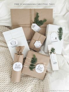 Scandinavian Paper Gifts Decorating