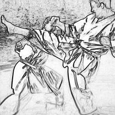 Taikikan-Dojo #maegeri #gedanbarai #karate #karatedo #shotokan #schwarzgurt #dan #meistergrad #meister #budo #budoka #kuroobi #blackbelt #drawings #disegno #ausschnitt #detail #zeichnung #kumite #karetefamily #karatemaster #karateislife #karateman #karate4live #karateteam