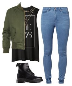 """""""Cool style"""" by maevaxstyle ❤ liked on Polyvore featuring Noisy May, Charlotte Russe, WearAll and Dr. Martens"""
