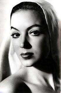 Maria Felix, one of the most beautiful movie stars during the Golden Age of Mexican cinema (1930s to 1960s)