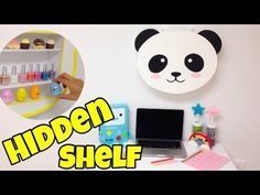 Coisas que Gosto: Hidden shelf(kawaii crafts)EASY DIY room decor ide...