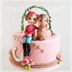 Girl and her horse cake by  tatlibirseyler