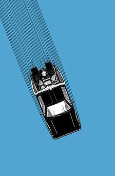 """Back To The Future - DeLorean"" by Supernorn | Redbubble"