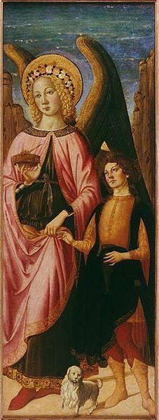 Biagio d'Antonio Tucci -  L'Arcangelo Raffaele con Tobia - 1475-1476 - Museo de Arte de Ponce, Porto Rico