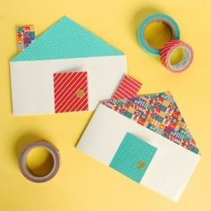 Grab your washi tape - it's time to make cute cottage cards. Perfect greeting for Housewarming gifts.