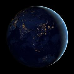 The Black Marble: Earth at Night.  From NASA and NOAA satellite.