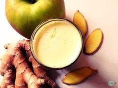 Apfel-Ingwer-Shot aus dem Entsafter