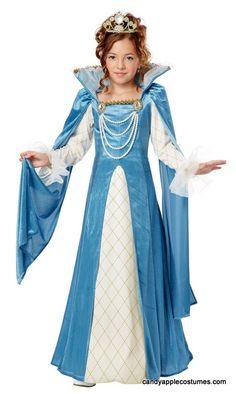 Attraktiv Childu0027s Renaissance Queen Costume