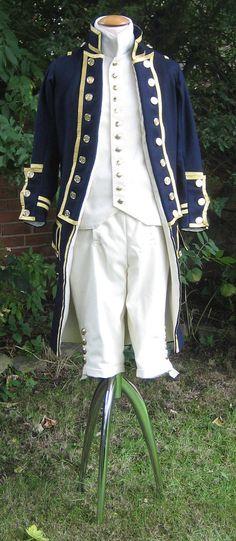 British Royal Navy Uniform, 1795 pattern, Reproduction.