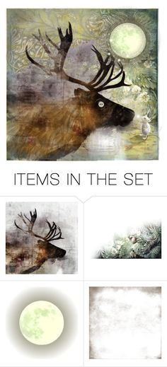 """""""By the light of the magical moon"""" by justange ❤ liked on Polyvore featuring art"""