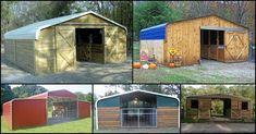 Turn a Carport Into a Barn – The Owner-Builder Network Carport Sheds, Diy Carport, Barns Sheds, Horse Barn Plans, Horse Barns, Horses, Horse Stables, Portable Carport, Horse Shelter
