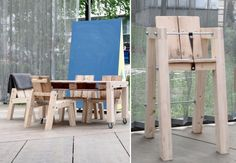 designed and manufactured by Henrik Enbom  from Euro pallets