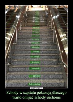 Schody w szpitalu pokazują dlaczego warto omijać schody ruchome –