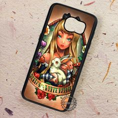 Alice in Wonderland Follow White Rabbit - Samsung Galaxy S7 S6 S5 Note 7 Cases & Covers