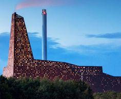 Erick van Egeraat, Energy Tower, Roskilde, waste incinerator, perforated façade, Dutch design, Denmark