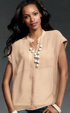 Side Pocket Blouse -Looks good on everyone! I'll be wearing this all Fall.