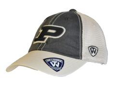 Purdue Boilermakers Top of the World Black Beige Offroad Adj Snapback Hat Cap