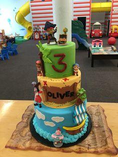 Jake and the neverland pirates cake. Pirate birthday.