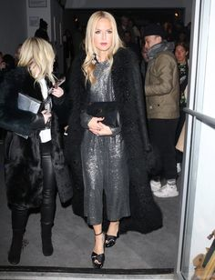 Rachel Zoe, Doutzen Kroes and Paris and Nicky Hilton were seen leaving the Oscar de la Renta show in New York City, New York on February 13, 2017.
