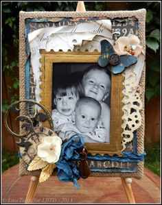 by Lisa at Love is in the Details Blog - Mixed media with photo