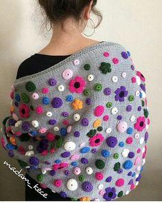"""3,049 Beğenme, 49 Yorum - Instagram'da Muhacir.Kız'ından. (@_sizin_orgu_sunumlariniz_): """"💙💜💚💛 #photo @madam_kece 👌👏👏 #örgü#örgümodelleri#tığişi#elişi#motif #crochet#embroidery#handmadelove…"""""""