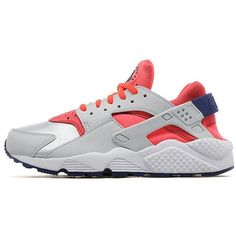 Nike Air Huarache Women's ($91) ❤ liked on Polyvore featuring shoes, athletic shoes, huaraches, nike, sneakers, genuine leather shoes, nike shoes, nike footwear, leather athletic shoes and bright shoes