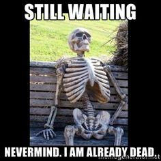 21 Best Waiting Skeletons Funny Memes Images Halloween Skeletons