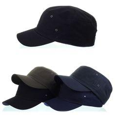 Mens Womens Classic Plain Vintage Army Military Cadet Patrol Castro Hats 4Colors #hellobincom #CadetPatrolCastroCapHats