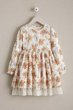 """""""Shop Chasing Fireflies for our Girls Antique Floral Dress. Browse our online catalog for the best in unique children's costumes, clothing and more. Cute Girl Dresses, Little Girl Dresses, Nice Dresses, Dresses Dresses, Floral Dresses, Little Girl Fashion, Kids Fashion, Style Fashion, Dress Anak"""