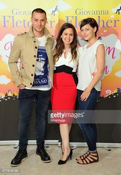 Matt Willis, Giovanna Fletcher and Emma Willis attend the launch of Giovanna Fletcher's 'Dream A Little Dream' at on June 18, 2015 in London, England.