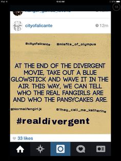 Too late for  me to do it for Divergent but guys lets do this for Insurgent too!