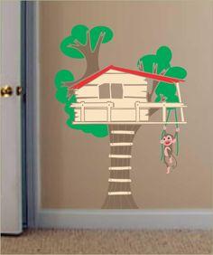 Adesivo de Parede Infantil - Casa na Árvore