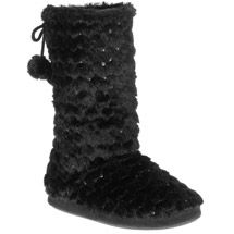 Walmart: Women's Gorgi Sequin Bootie Slippers...$12.97