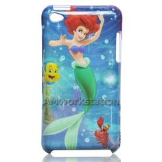 Cute Little Mermaid Girl Pattern Design Logo LV-5 Hard Case Protective Cover for Apple iPod Touch 4 4th Generation ANY Color Black Silver by 7-14 DAYS TO USA by Seller AMworkstation, http://www.amazon.com/dp/B00AXE5I4Q/ref=cm_sw_r_pi_dp_CJqtrb0XRPMCK