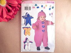 Baby Clothing Bunting Sewing Pattern Uncut Butterick 5899 Size L - XL 22 - 30…