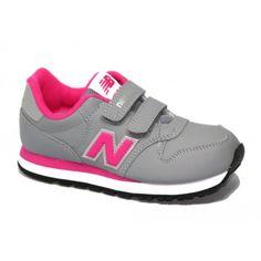 zapatillas de deporte en gris y rosa 500 de new balance