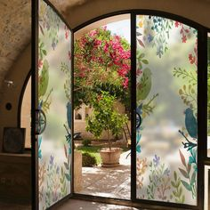 Decorative Glass Window Film Sticker Home Decor Stained Static Nature Flower Tree Bird French Countryside Style Colorful _ {categoryName} - AliExpress Mobile Version - Countryside Style, Balcony Window, Image Hd, Bathroom Remodeling Contractors, Window Decals, Window Stickers Privacy, Window Privacy, Privacy Glass, Living Room Windows