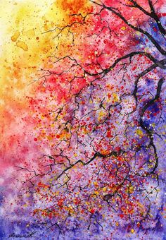 Watercolor Tree Paintings - Artist Anna Armona Imagines Vibrant Scenes of Nature (GALLERY)