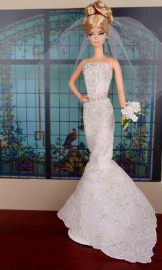 Bridal Bliss per Silkstone Barbie Victoire Roux & di HankieChic