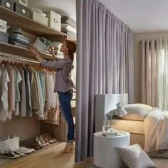 Awesome Diy Room Divider Ideas To Try Asap - Raumteiler Bedroom Divider, Room Divider Curtain, Ikea Room Divider, Room Divider Bookcase, Divider Cabinet, Fabric Room Dividers, Hanging Room Dividers, Wall Dividers, Sliding Room Dividers