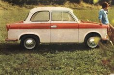 The 1957 Trabant: A two-cylinder, two-stroke engine compact from East Germany. One more reason why communism is evil.