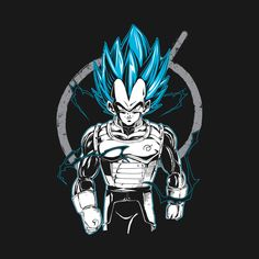 Check out this awesome 'Super+Saiyan+Vegeta+Shirt+-+TP00525' design on @TeePublic!