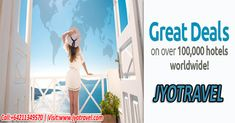 #Jyotravel is the simplest online travel portal on the web by its appearance yet very powerful search engine for all the travel need. The company also provides #last_minute_hotel_deals at very reasonable price. #Book_Hotels_Online #Hotel_Booking_Site