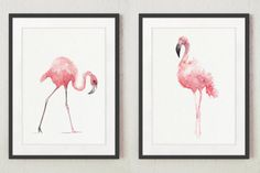 Flamingo Nursery Poster Kids Illustration Children Blush Pink Watercolor Painting, Set of 2 Birds, Abstract Art Print, Flamingos Room Decor Flamingo Nursery, Bird Nursery, Nursery Canvas, Flamingo Art, Canvas Wall Decor, Watercolor Paint Set, Watercolor Paintings Abstract, Pink Abstract, Watercolor Illustration