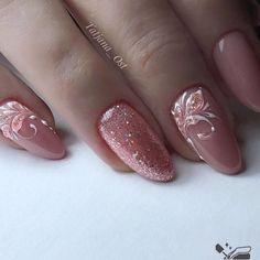 Elegant Nail Art, Elegant Nail Designs, Cute Acrylic Nail Designs, Pretty Nail Art, Gel Nail Designs, Classy Nails, Stylish Nails, Bridal Nail Art, Nagellack Design