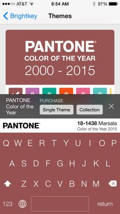 Brightkey + Pantone Bring Colorful Keyboards to iOS Devices! Make your iphones colorful! ;)