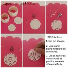 DIY cake lace tutorial