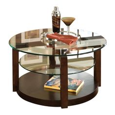 Love this round coffee table!